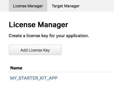 License Mgr Listing