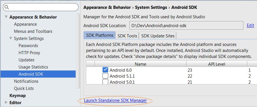 android sdk download 32 bit