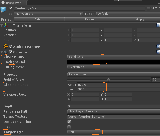 Integrating Gear VR and the AR/VR Sample in Unity 5 3 and above