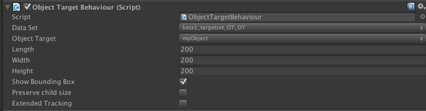 Configuring the Object Target Inspector