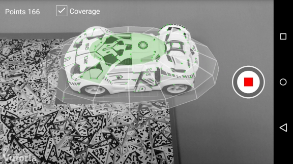 Description: Scanning using the Coverage Indicator