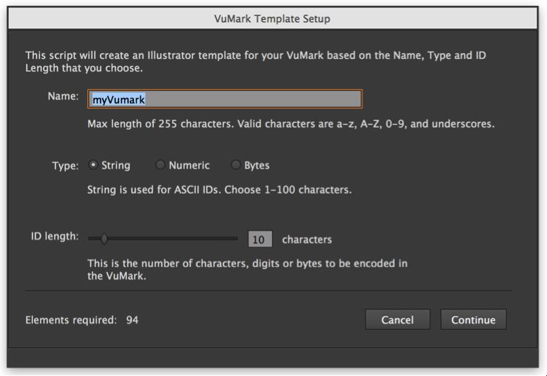 Designing a VuMark in Adobe Illustrator