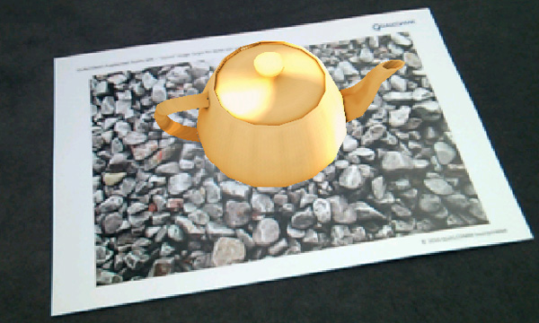 Image Target with teapot